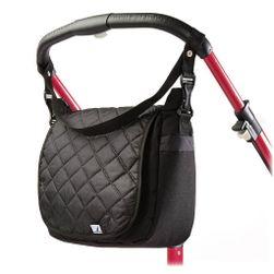 Prošívaná taška na kočárek  black RW_32803