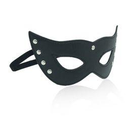 Kočičí maska na oči z umělé kůže
