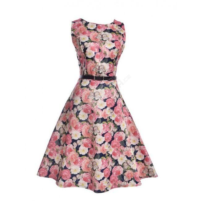 Dámské květinové šaty - 11-velikost č. 4 1