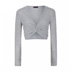 Crop top v šedé barvě - 6 velikostí