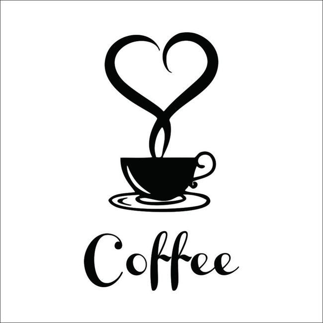 Samolepka - káva 1