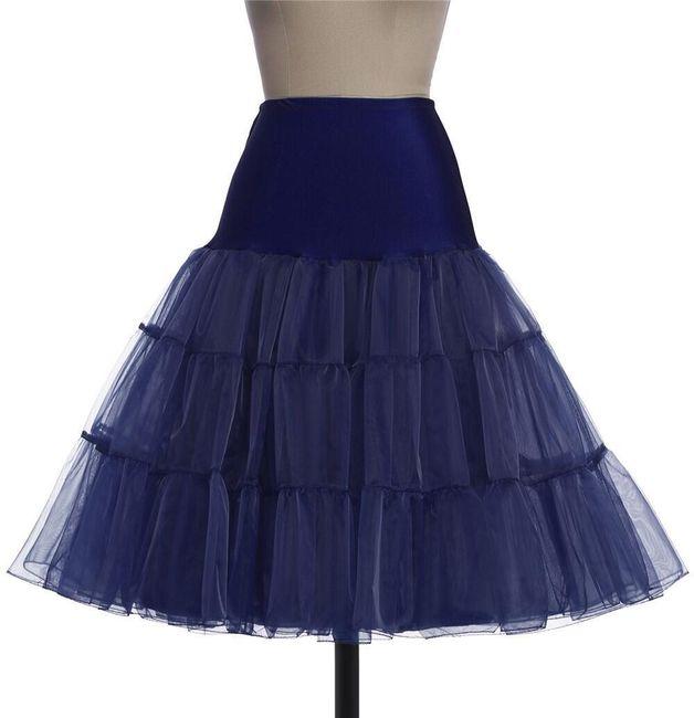 Dámská sukně v rockabilly stylu - námořnická modrá, velikost 3 1