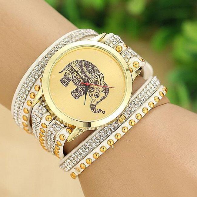 Ženska ura s slonom za srečo 1