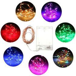 Świąteczny łańcuch LED w wielu kolorach
