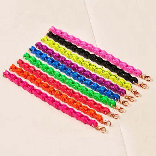 Originální náramek v designu řetězu na kolo - ve 12 barvách 1