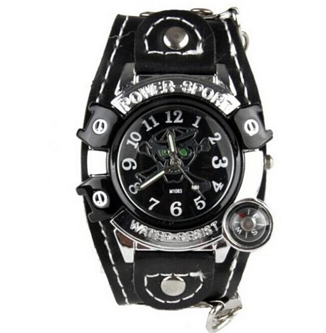 Zegarek na rękę Quartz z czaszką 1