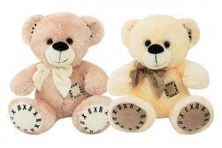 Medveď s mašľou sediaci plyš 28cm 2 farby 0m + RM_56780230