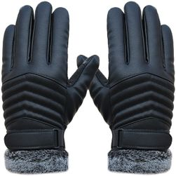 Zateplené motorkářské rukavice