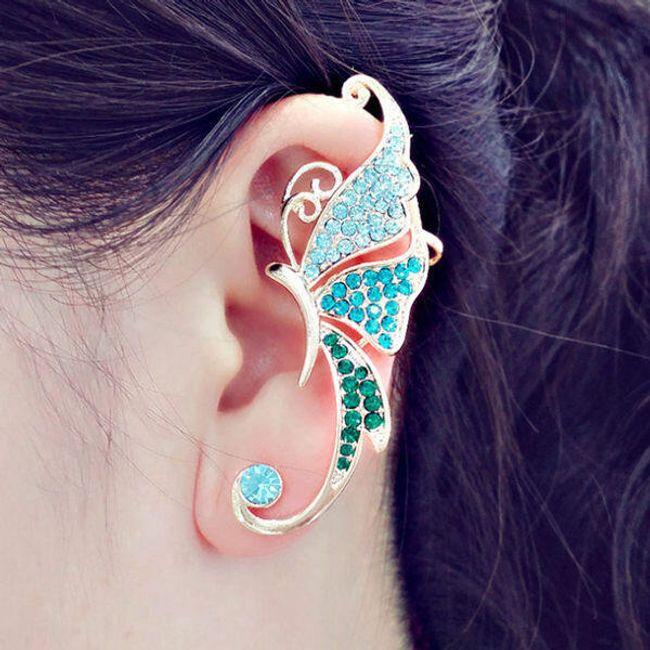 Fülbevaló az egyik fülre - pillangó 1