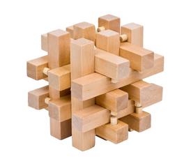 Dřevěné 3D puzzle - hlavolam