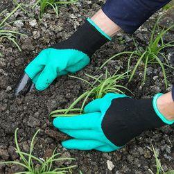 Садовые перчатки с пластиковыми когтями