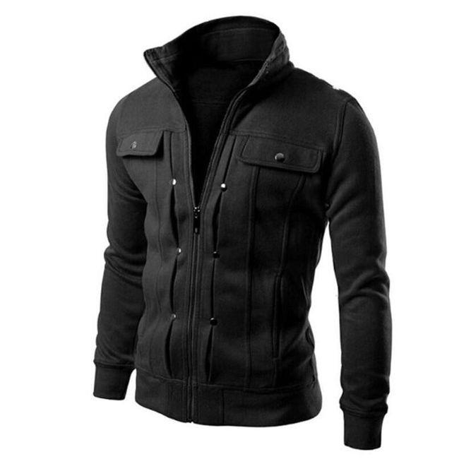 Moška jakna na zadrgo 1
