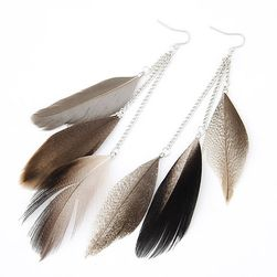 Viseće minđuše - perje
