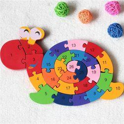 Puzzle în formă de melc pentru copii