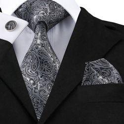Pánská kravata s kapesníčkem a manžetovými knoflíčky