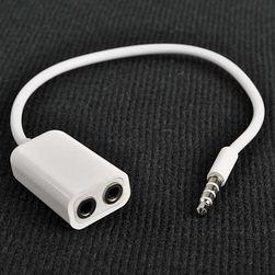 Rozgałęzienie do 3,5mm słuchawkowego wejścia, do Ipadu i iPhone 4 4G 4S 3GS 3G