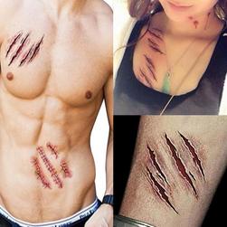 Переводная татуировка- Кровоточащие раны- 3 шт.