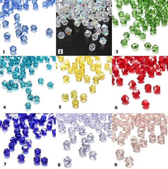 Skleněné navlékací korálky 100 ks - na výběr z 9 barev 1