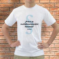 "Koszulka z cytatem Gerlacha ""Právo je multidimenzionální fenomén"""
