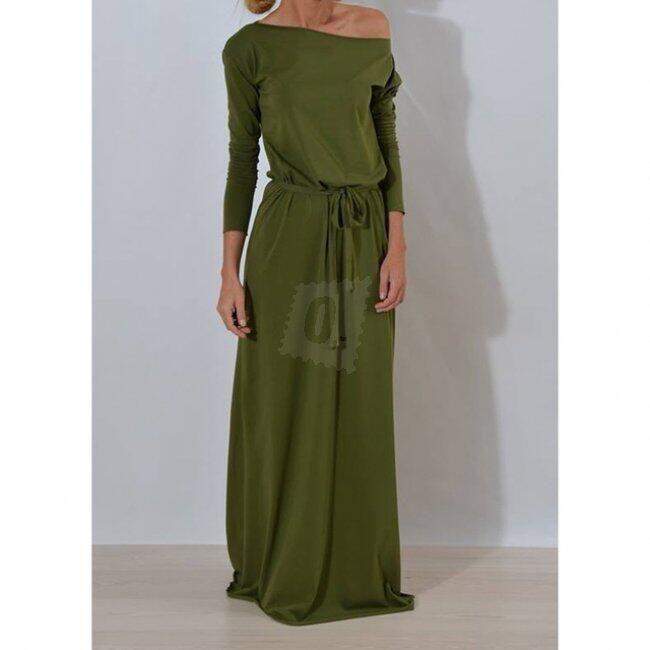 Maxi teplákové šaty - Army - velikost č. 4 1