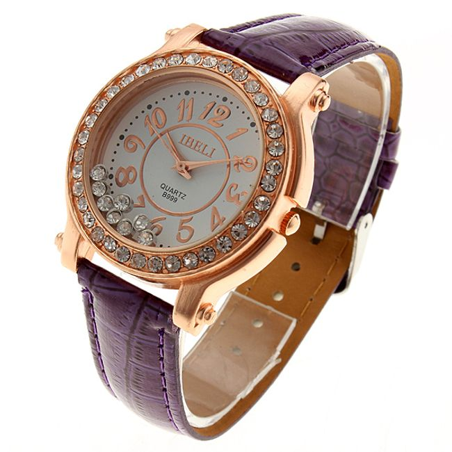 Dámské náramkové hodinky v purpurové barvě 1