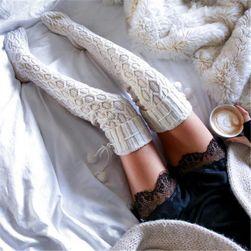 Плетени чорапи над коляното