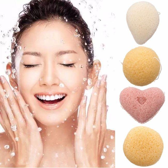 Волокнистая чистящая губка для лица 1