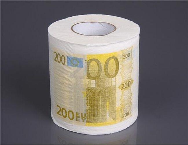 Toaletní papír s motivem 200 Euro 1