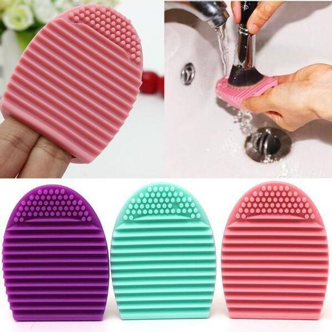 Silikonska rokavica za čiščenje ščetk za ličenje 1