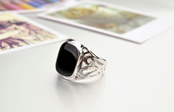 Inel masiv pentru barbati Argintiu-5