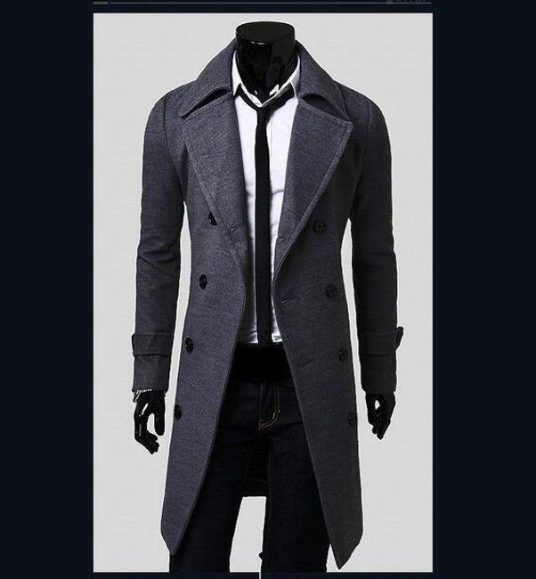 Pánský kabát Giorgio - Šedá-L 1