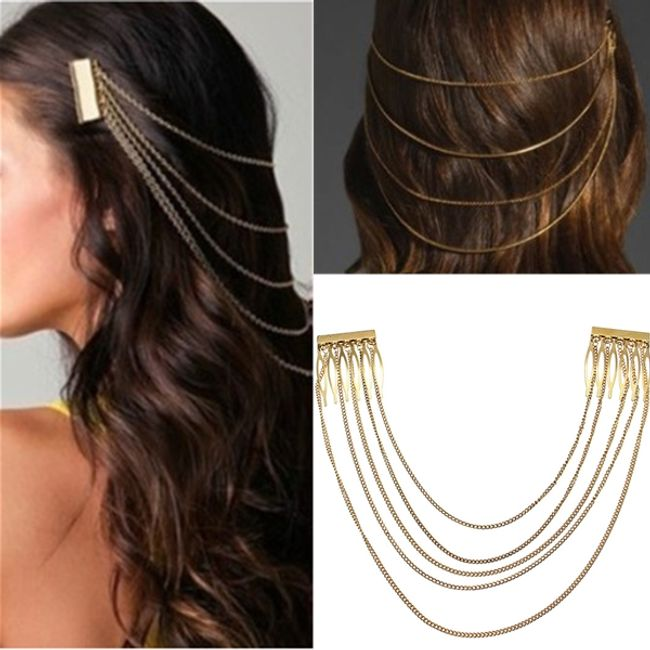 Okras za lase v obliki verig 1