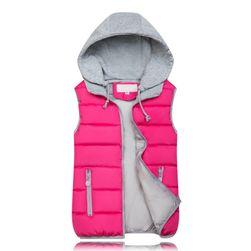 Дамска жилетка с качулка - 10 цвята