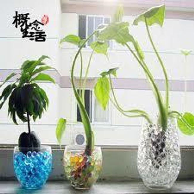 Ozdobne nawadniające kuleczki do wazonów - 6 woreczków - różne kolory  1