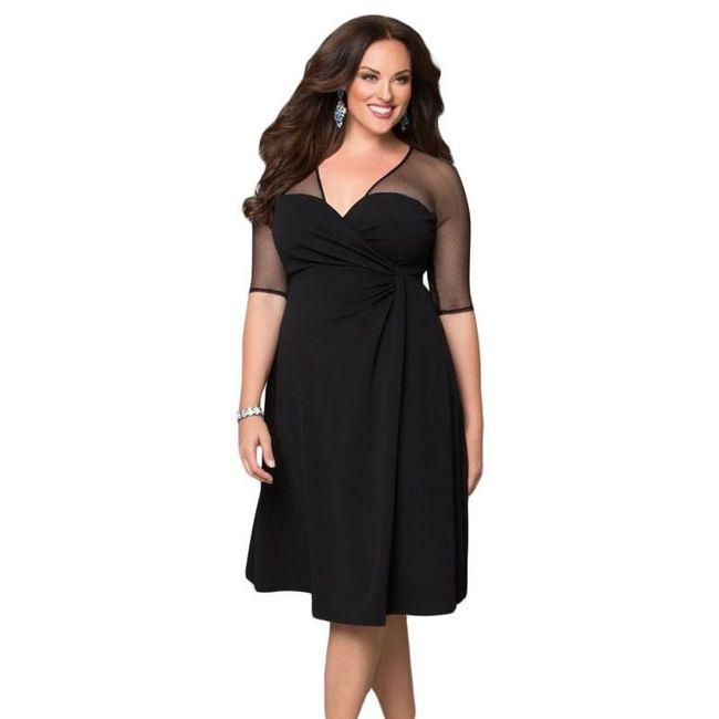 Вечернее платье с прозрачными рукавами- размеры плюс  1