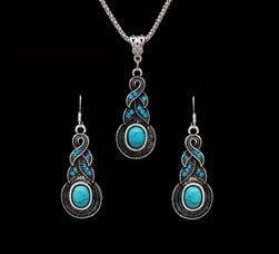 Set de bijuterii cu pietre turcoaz