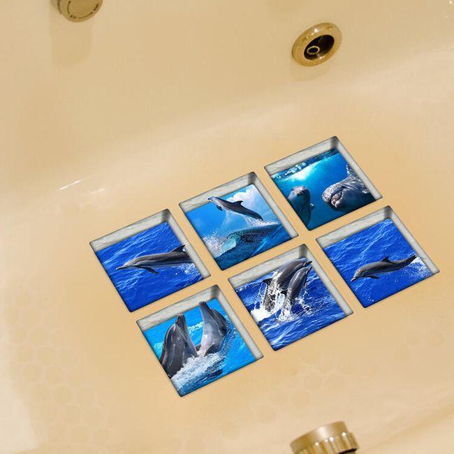 Protidrsne nalepke za kopalnico - 6 kosov 1