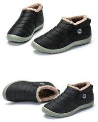 Unisex zimní kotníkové boty - Černá-velikost 35