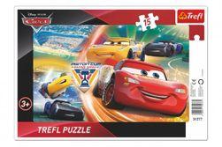 Puzzle deskové Cars/Boj o vítězství 33x23cm 15 dílků RM_89131277