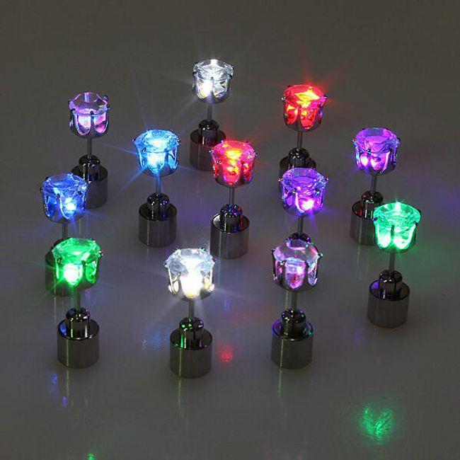 LED Világító fülbevaló - Több szín 1