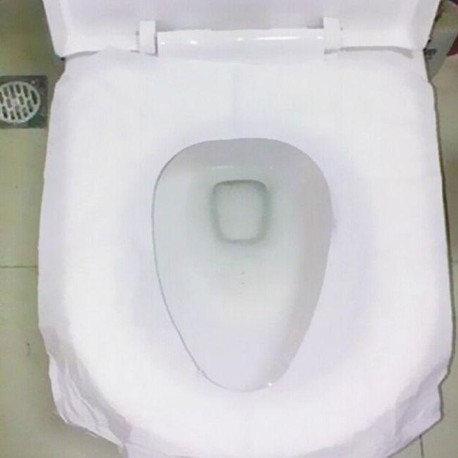 Potovalna prevleka za WC sedež za enkratno uporabo - 10 kosov 1