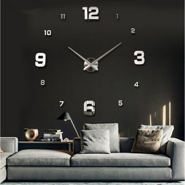 Настенные часы с большими цифрами - 10 расцветок 1