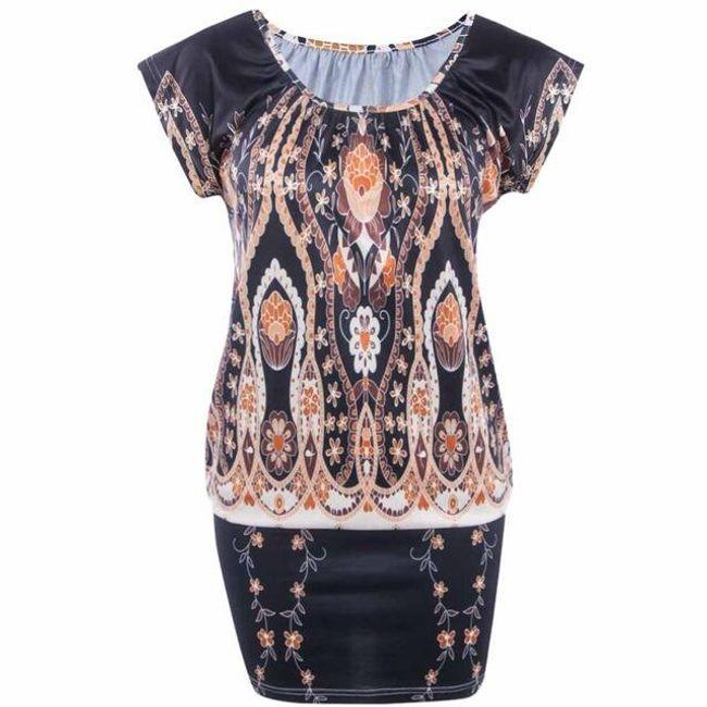 Dámské mini šaty Kora - Černá-velikost č. 4 1