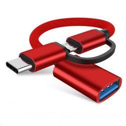 OTG kabel Micro USB - Type C