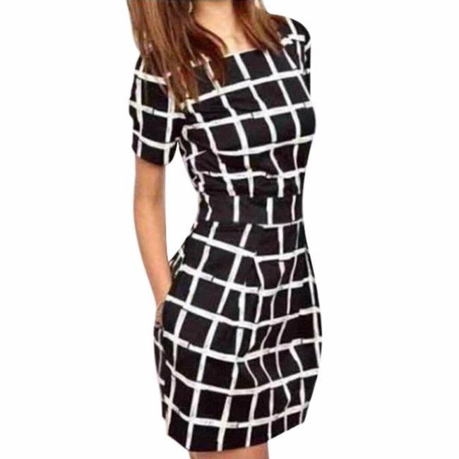 Dámské šaty s kostkovaným vzorem - velikost č. 5 1