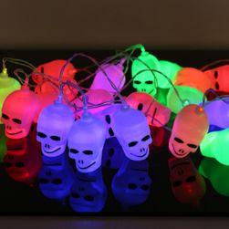 LED řetěz - lebky
