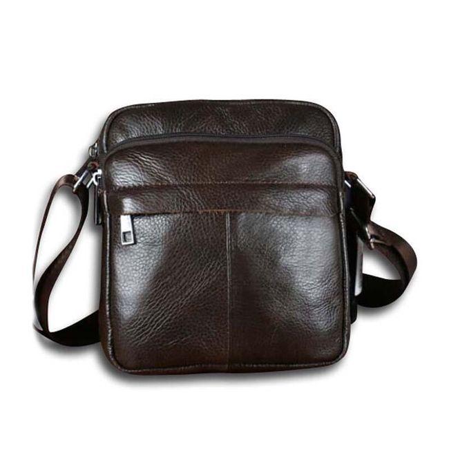 Pánská taška přes rameno - hnědá 1