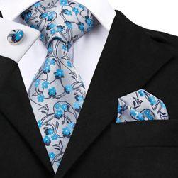 Męski krawat, chusteczka i spinki do mankietów KOC2
