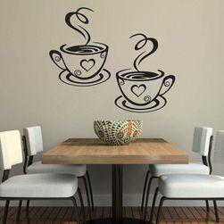 Şık duvar çıkartması - kahve fıncanı