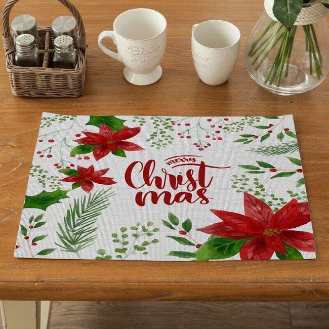 Bożonarodzeniowe nakrycie stołu De45 1
